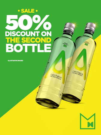 Discount on the second bottle A Cachaça
